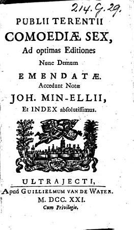 Publii Terentii Comoediae sex PDF