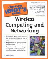 The Complete Idiot s Guide to Wireless Computing and Networking PDF