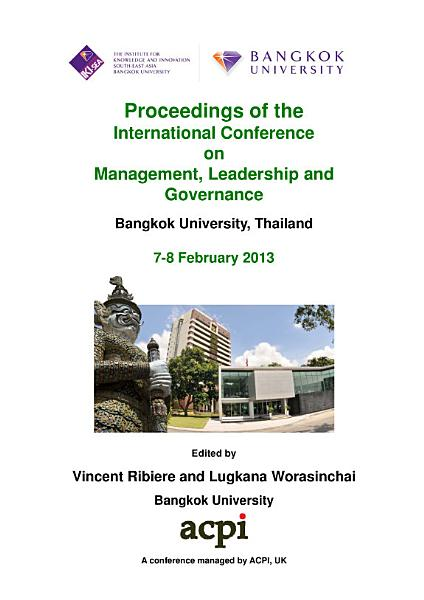 ICMLG2013-Proceedings of the International Conference on Management, Leadership and Governance
