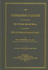 The Jurisprudence of Medicine in Its Relations to the Law of Contracts, Torts, and Evidence: With a Supplement on the Liabilities of Vendors of Drugs