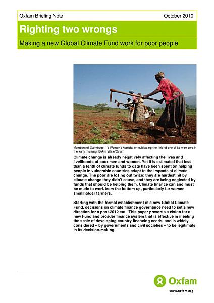 Download Righting Two Wrongs  Making a new global climate fund work for poor people Book