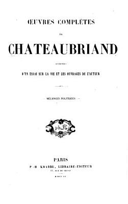 Oeuvres compl  tes de Chateaubriand PDF