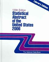 Statistical Abstract of the United States 2006 PDF