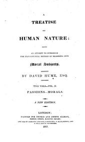 A treatise of human nature [by D. Hume].