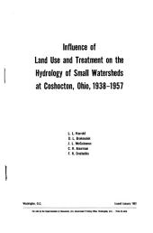 Influence of Land Use and Treatment on the Hydrology of Small Watersheds at Coshocton, Ohio, 1938-1957