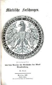 Märkische Forschungen: Band 11
