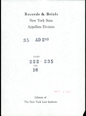 Records and Briefs New York State Appellate Division