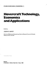 Hovercraft Technology  Economics  and Applications PDF