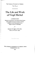 The Life and Work of Virgil Michel PDF