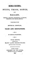 Melodies  Duets  Trios  Songs  and Ballads     Together with metrical     tales     Second edition  comprising many late productions never before published PDF