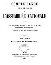 Compte rendu des séances des l'Assemblée nationale: Volume3