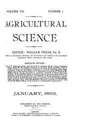 Agricultural Science: Volume 7