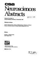 CSA Neurosciences Abstracts PDF