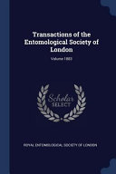 Transactions of the Entomological Society of London;