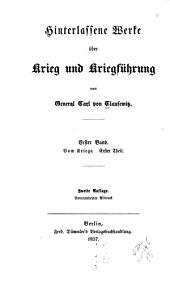 Hinterlassene Werke über Krieg und Kriegführung: Bände 1-3