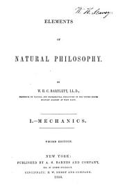 Elements of Natural Philosophy: Mechanics. I.