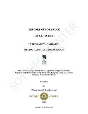 History of Soy Sauce  160 CE To 2012