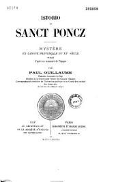 Istorio de Sanct Poncz: mystère, en langue provençale du XVe siècle