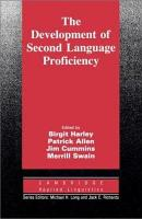 The Development of Second Language Proficiency PDF