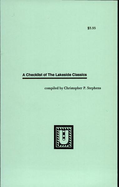 Download A Checklist of the Lakeside Press Book