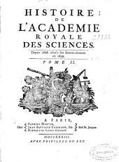 Memoires de l'Académie Royale des Sciences depuis 1666 jusqu'à 1699: Volume2