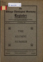 The Chicago Theological Seminary Register: Volume 7, Issue 1