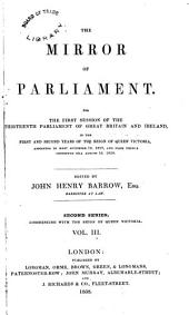 The Mirror of Parliament: Volume 3