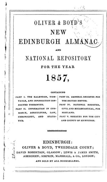 Oliver and Boyd s New Edinburgh Almanac and National Repository PDF