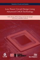 Low Power Circuit Design Using Advanced CMOS Technology PDF