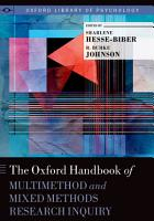 The Oxford Handbook of Multimethod and Mixed Methods Research Inquiry PDF