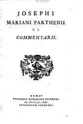 Commentarii: (De Bernardino Perfetto, Car. Sanctino)