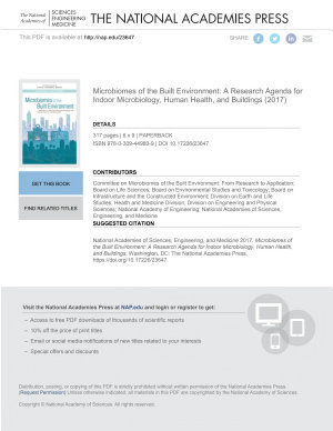 Microbiomes of the Built Environment