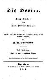 Die Dorier: Band 1
