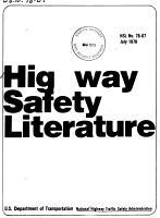 Highway Safety Literature PDF