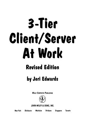 3-Tier Server/Client at Work