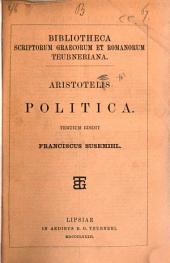 Aristotelis Politica, tertium ed. F. Susemihl