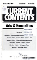 CURRENT CONTENTS October 11,1999 volume 21 number 21