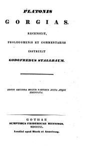 Opera omnia. Recensuit et commentariis instruxit Godofreus Stallbaum. graece: Volume 4