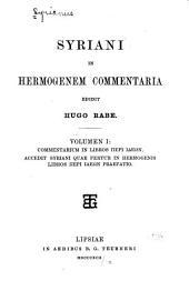 Syriani in Hermogenem commentaria