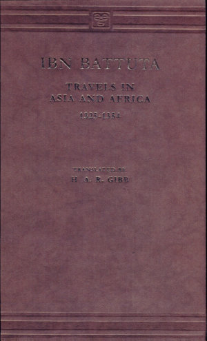 Travels in Asia and Africa, 1325-1354