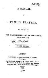 A manual of family prayers [signed C.J.C.].