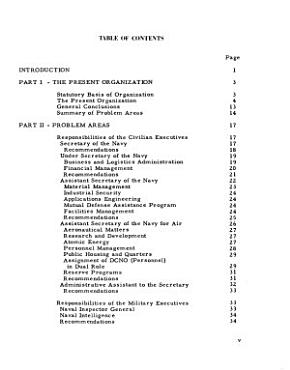 Report of the Committee on Organization of the Department of the Navy PDF