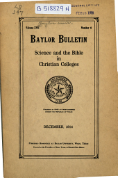 The Baylor Bulletin: Volume 17, Issue 6