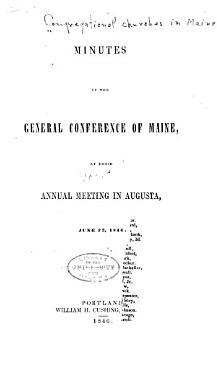 Minutes of the General Conference of the Congregational Churches in Maine and Maine Missionary Society PDF