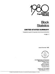 1980 Census Of Population And Housing Book PDF