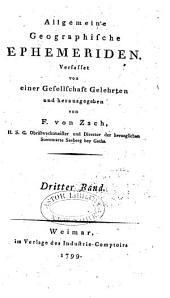 Allgemeine geographische Ephemeriden: Band 3
