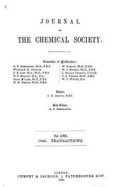 Journal of the Chemical Society: Volume 57
