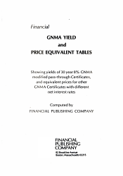 Financial Gnma Yield And Price Equivalent Tables Book PDF