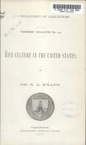 Rice Culture in the United States