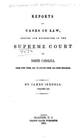 North Carolina Reports: Cases Argued and Determined in the Supreme Court of North Carolina, Volume 34